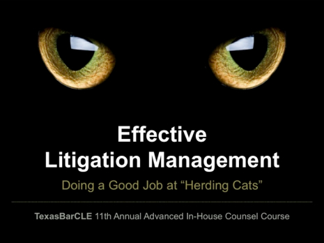 Effective Litigation Management Presentation